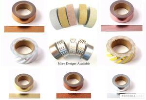 Copper Rose Gold Foil Washi tape. Metallic Decorative Tape Scrapbooking