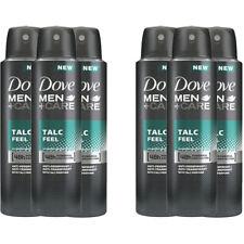 6 Pack Dove Men + Care Talc Feel 48 Hour Protection Deodorant Spray 150ml