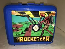 The Rocketeer Lunchbox and Thermos Blue Plastic with Aladdin Tag New