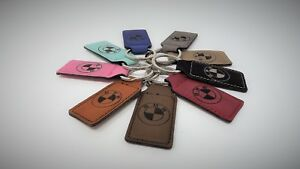 BMW Vintage M Power Leather Keychain Key Fob