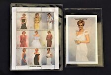 Princess Diana Royal Gowns Plate Block 9 Stamps + White Chiffon Evening Dress