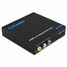 LIGAWO HDMI to Composite Video red Yellow White RCA Phono Converter Adapter pal/