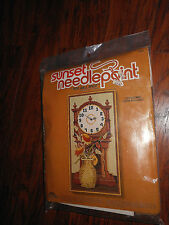 Time Well Spent Needlepoint Grandfather Clock Kit Sunset New Sealed Rare Vtg