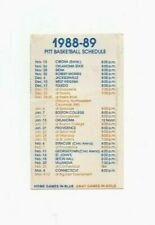 1988-89 UNIVERSITY OF PITTSBURGH (PITT) BASKETBALL POCKET SCHEDULE