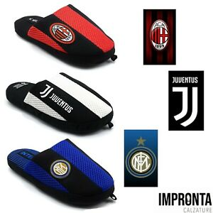 Ciabatte Pantofole Uomo Casa Squadre Milan Juventus Inter  37/46