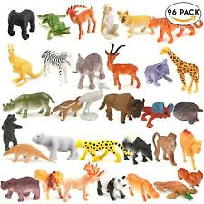 96 Wild Animals Zoo Safari Farm Children Kids Loot Party Bag Filler Plastic Toy