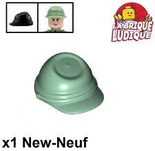 Lego - 1x Minifig headgear casquette cap cavalry kepi vert sand green 30135 NEUF