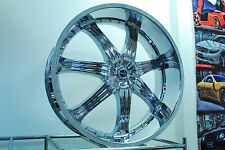 CARTEL 28X10  5X120 OR 5X127  ET+15 CHROME  WHEELS  FOR MOST GM CARS