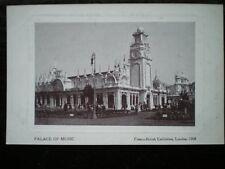 POSTCARD LONDON FRANCO-BRITISH EXHIBITION  1908 - PALACE OF MUSIC