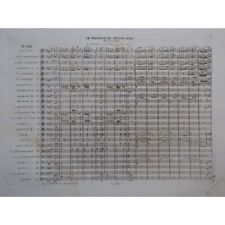 DOUARD Le Passage du Grand Cerf Orchestre Fanfare Militaire XIXe partition sheet