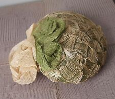Orphelie Green and Cream Straw Hat