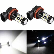 JDM ASTAR 2pcs 50W H11 High Power CREE 6000K Xenon White LED Fog Lights Bulbs