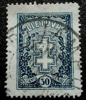 Lithuania :1930 Protective Cross 30C. Rare &Collectible Stamp.