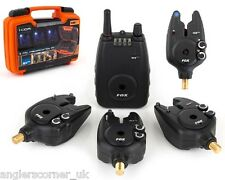 Fox Micron MXr Plus Blue / Alarms & Receiver Set / 4 Rod / Carp Fishing