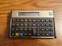 Working Hewlett Packard HP 12C Financial Calculator, w/ Case, 3 New Batteries