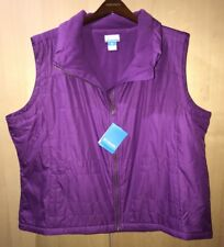 Columbia Shining Light II Vest Purple Lightweight Warm Zipper Plus Sz 2X