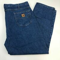 Carhartt Denim Jeans Mens 44X30 Blue Straight Leg Traditional Fit Medium Washed