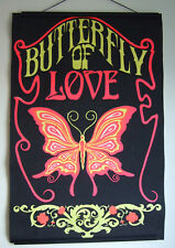 Vintage Brady Bunch 1969 Relic~Butterfly of Love~Blacklight Poster/Girls' Room