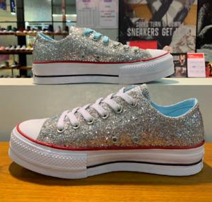 Converse X Chiara Ferragni Cats Lift OX Sneakers Shoes 563833C Sz5-8 Silver