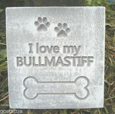 plastic plaque mold Bullmastiff decorative tile stone garden mold