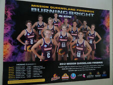 NETBALL QLD FIREBIRDS TEAM OFFICIAL GENUINE POSTER COLLECTORS BARGAIN