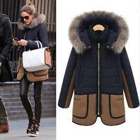 Mode Women Warm Winter Fur Hooded Coat Parka Overcoat Long Jacket Outwear Tops