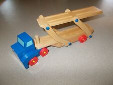 Quality Carter's Melissa & Doug wooden car hauler truck and trailer toy used