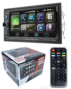 "6.5"" Bluetooth Radio AM/FM MP3 USB Apple Car Play Double Din LCD Touch Screen"