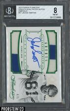 2014 Panini Flawless Emerald Greats Jackie Smith Dual Patch AUTO 4/5 BGS 8