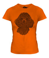 POODLE SKETCH LADIES PRINTED T-SHIRT TOP GREAT GIFT FOR DOG LOVER MINIATURE TOY