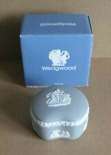Wedgwood Jasperware Grey Cupid Reclining Bean Box