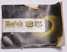 Kodak Automatic 35 Film Camera Instruction Manual Book English - Used B106
