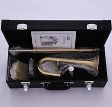JINBAO Gold Bb Slide Trumpet Bb Soprano Trombone Horn Leather Case Free Shipping
