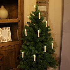 10 Batería de interior LED Control remoto Vela 10CM Árbol De Navidad Luces De Hadas