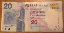 Billete. 20 dólares de Hong Kong. Bank of China. fecha 2010 UNCIRCULATED.
