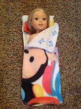 "Wellie Wishers American Girl doll 14"" Disney Tsum Tsum Sleeping Bag Clothes"