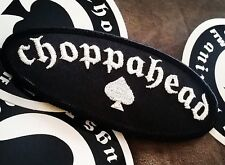 Choppahead Patch -  chopper, bobber. cafe racer, moto, punk rock