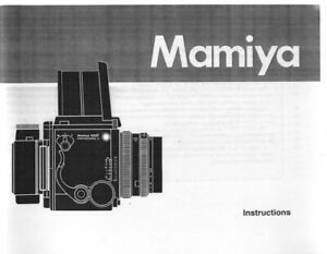 Mamiya RZ67 Pro II Instruction Manual photocopy