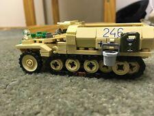 Custom Lego ww2 German Sd.Kfz. 250/Stummel gun 1/46 scale