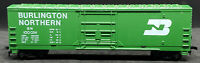 AHM Burlington Northern BN 100024 GREEN Box Car.  HO SCALE. MADE IN USA VINTAGE