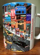New York, Time Square Coffee Mug Artist Signed Plat Sunger 1996