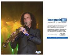 Kenny G Saxaphone Signed Autographed 8x10 Photo EXACT Proof ACOA Authenticated B