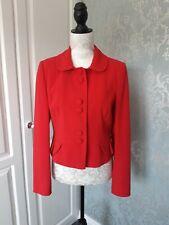 Beautiful Red Peplum Waist Buttoned Jacket Size 12