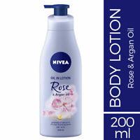 Nivea Oil In Lotion Rose & Argan Oil 200ml for Dry Skin Goodness Of Natural Oils