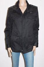 MARCS Designer Mens Black Long Sleeve Zip Front Jacket Size M LIKE NEW #SJ09