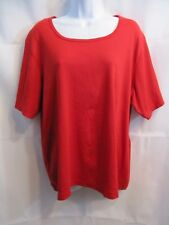 820918c973a White Stag Woman Red Knit Top Blouse Size 22W 24W
