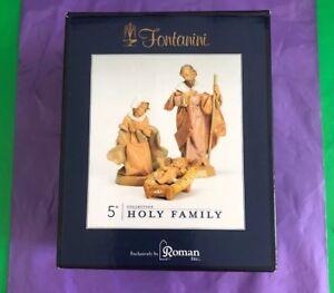 "Fontanini HOLY FAMILY 3 pc. set, 5"" Scale Nativity Figurines, by Roman 71503"