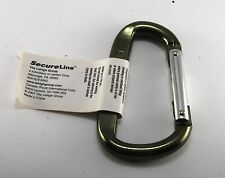 NEW GREEN HEAVY DUTY SECURELINE KEY CLIP KEY CLIP  RING METAL ALUMINUM NWT