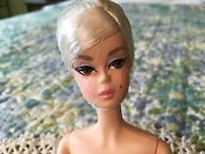 BARBIE SILKSTONE POSABLE DOLL FROM GLAM GOWN; NUDE DOLL, STAND, BOX, HANG TAG
