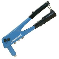 Budget Silverline Hand Riveter, D.I.Y Tool 2.4mm, 3.2mm, 4.0mm and 4.8 Nozzles
